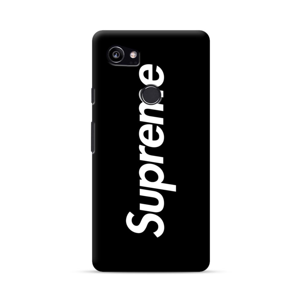 new product fed89 007d7 Supreme Black Cover Google Pixel 2 XL Case