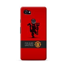Manchester United Team Logo Red Devil Banner Google Pixel 2 XL Case