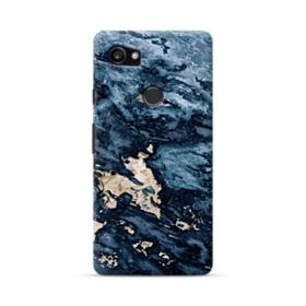 Navy Blue Sarrancolin Marble Google Pixel 2 XL Case