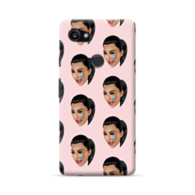 Crying Kim emoji kimoji seamless Google Pixel 2 XL Case