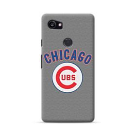Chicago Cubs Team Logo Fabric Google Pixel 2 XL Case