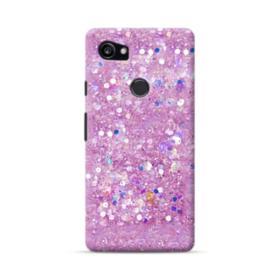 Pink Sparkling Glitter Flakes Google Pixel 2 XL Case