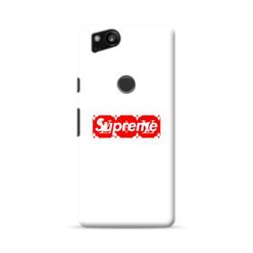 Supreme White Cover Google Pixel 2 Case