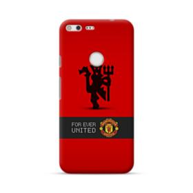 Manchester United Team Logo Red Devil Banner Google Pixel XL Case