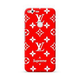 Classic Red Louis Vuitton Monogram x Supreme Logo Google Pixel XL Case