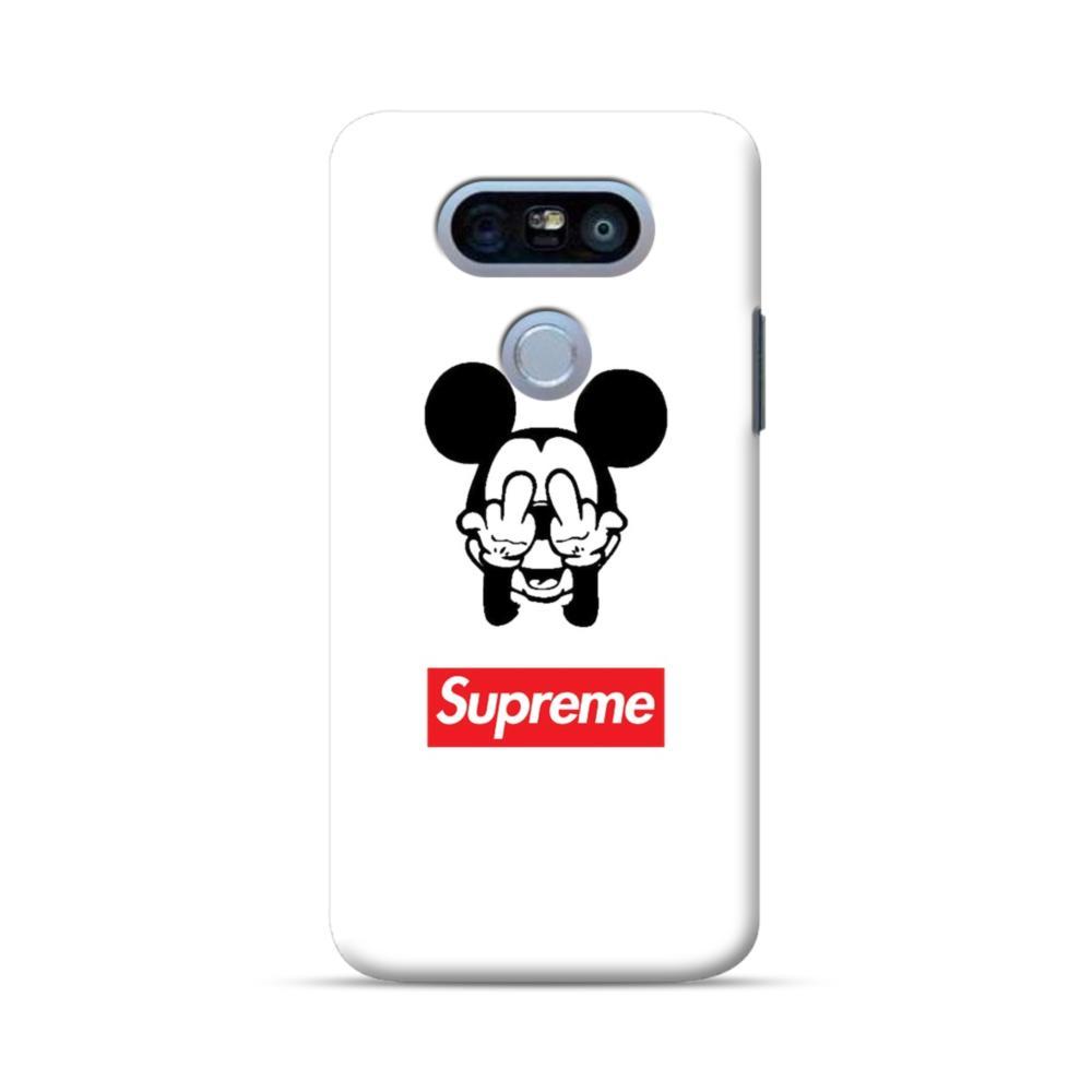 save off 79b75 8bcee Disney Mickey Mouse x Supreme LG G5 Case