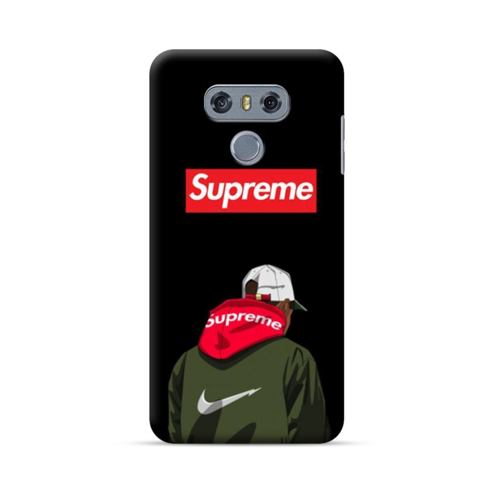 newest 792ee 0a334 Supreme Hoodie Boy LG G6 Case