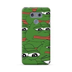 Sad Pepe frog seamless LG G6 Case
