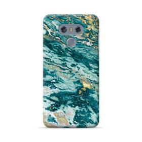 Turquoise and Gold Marble LG G6 Case