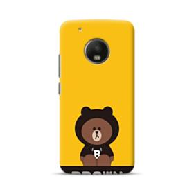 Line Friends Brown Give You Luck Moto G5 Plus Case