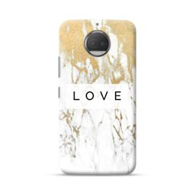 White Gold Marble Moto G5S Plus Case