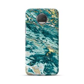Turquoise and Gold Marble Moto G5S Plus Case