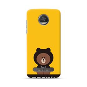 Line Friends Brown Give You Luck Moto Z2 Play Case