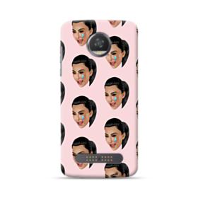 Crying Kim emoji kimoji seamless Moto Z2 Play Case