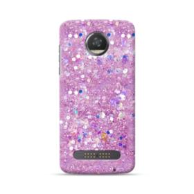 Pink Sparkling Glitter Flakes Moto Z2 Play Case