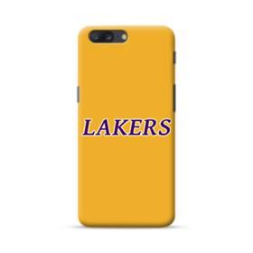 Lakers Minimalist Text OnePlus 5 Case