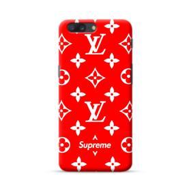 Classic Red Louis Vuitton Monogram x Supreme Logo OnePlus 5 Case