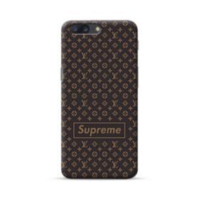 Classic Louis Vuitton Brown Monogram x Supreme Logo OnePlus 5 Case