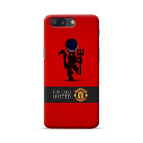 Manchester United Team Logo Red Devil Banner OnePlus 5T Case