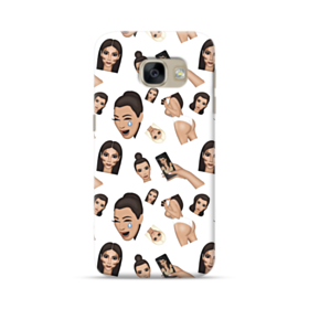 Kim Kardashian Emoji Kimoji seamless Samsung Galaxy A5 2017 Case
