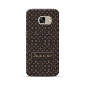 Classic Louis Vuitton Brown Monogram x Supreme Logo Samsung Galaxy A5 2017 Case