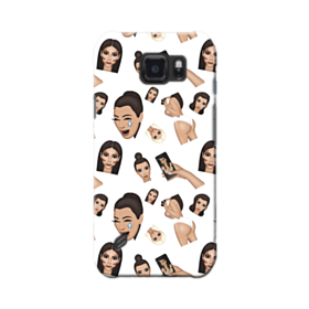 Kim Kardashian Emoji Kimoji seamless Samsung Galaxy S6 Active Case