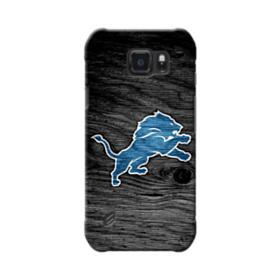 Detroit Lions Logo Black Wood Texture Samsung Galaxy S6 Active Case