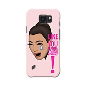 Crying Kim emoji kimoji meme  Samsung Galaxy S6 Active Case