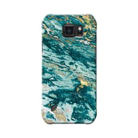 Turquoise and Gold Marble Samsung Galaxy S6 Active Case