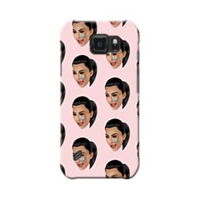 Crying Kim emoji kimoji seamless Samsung Galaxy S6 Active Case