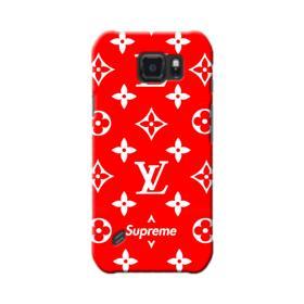Classic Red Louis Vuitton Monogram x Supreme Logo Samsung Galaxy S6 Active Case