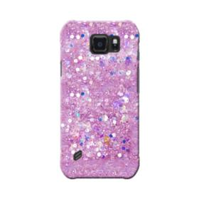 Pink Sparkling Glitter Flakes Samsung Galaxy S6 Active Case