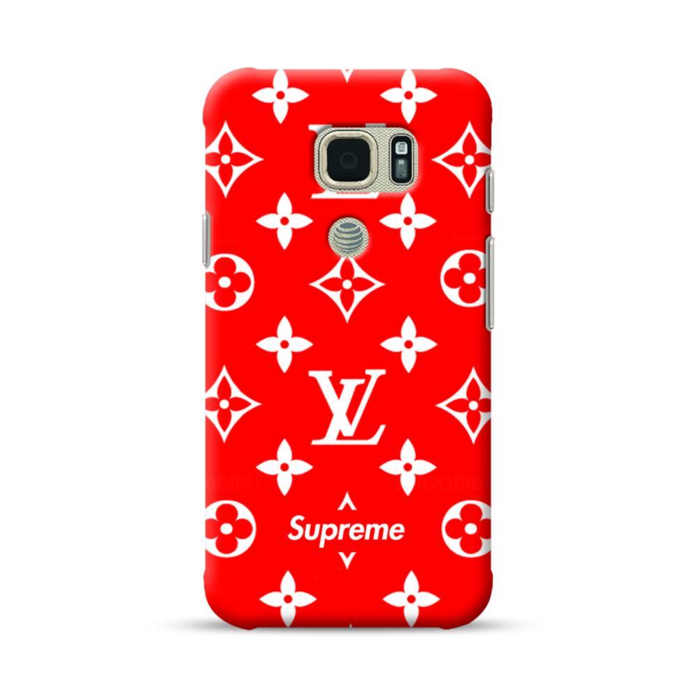 wholesale dealer 01560 a3c3d Classic Red Louis Vuitton Monogram x Supreme Logo Samsung Galaxy S7 Active  Case