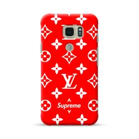 Classic Red Louis Vuitton Monogram x Supreme Logo Samsung Galaxy S7 Active Case