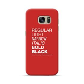 Helvetica Font Family Samsung Galaxy S7 Case