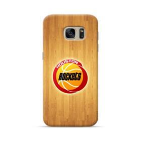 Houston Rockets Woodgrain Basketball Court Samsung Galaxy S7 Case
