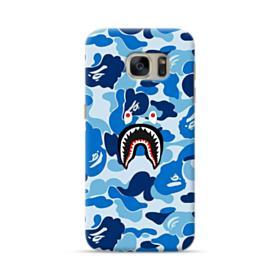 Bape Shark Blue Camo Samsung Galaxy S7 Case