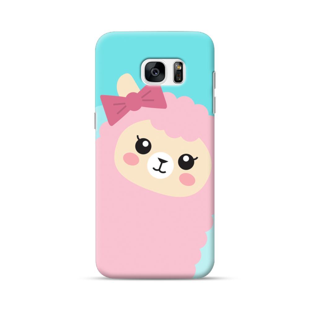 meet d3a99 85648 Pink Alpaca Girl Samsung Galaxy S7 edge Case