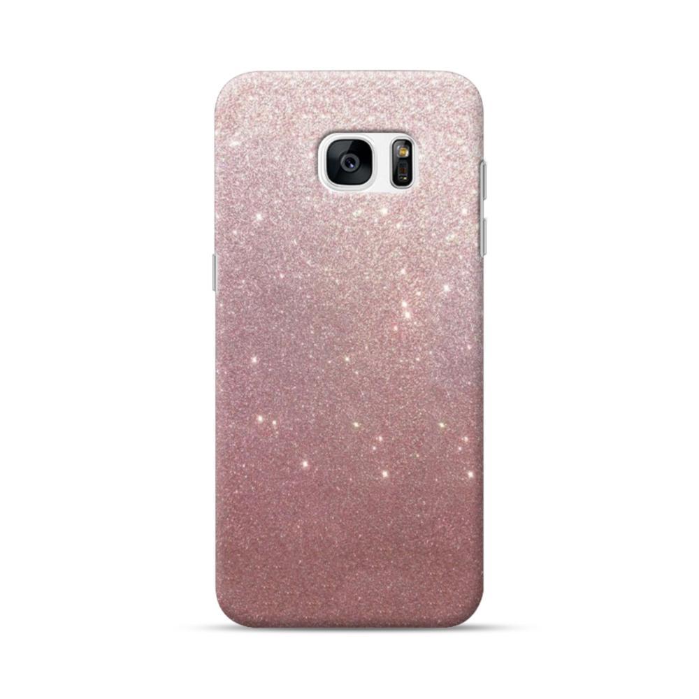 93b8cca4a041 Rose Gold Glitter Samsung Galaxy S7 edge Case