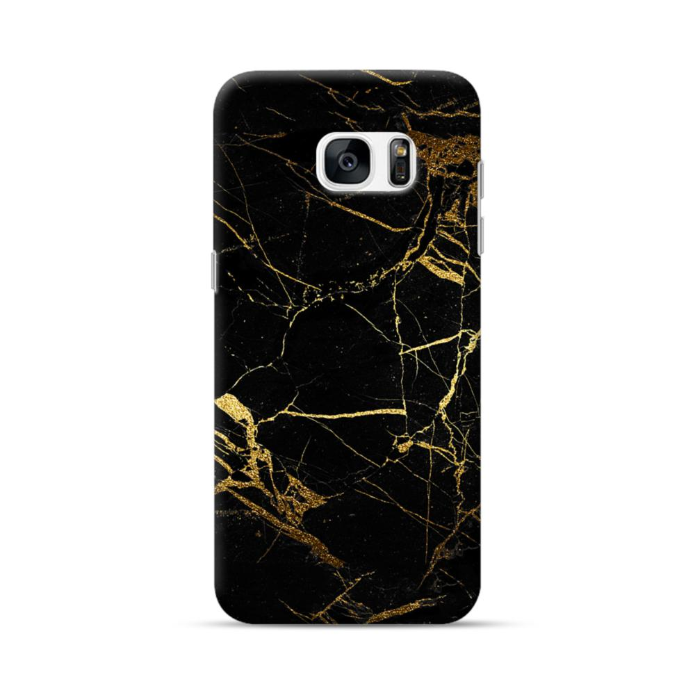 new style 648a6 71469 Black & Gold Marble Samsung Galaxy S7 edge Case
