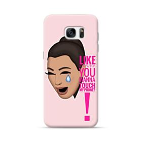 Crying Kim emoji kimoji meme  Samsung Galaxy S7 edge Case