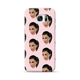 Crying Kim emoji kimoji seamless Samsung Galaxy S7 edge Case