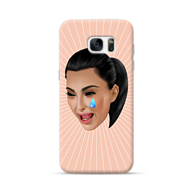 Crying Kim emoji kimoji Samsung Galaxy S7 edge Case