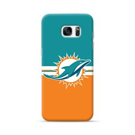 Dolphins Green Orange Banners Samsung Galaxy S7 edge Case