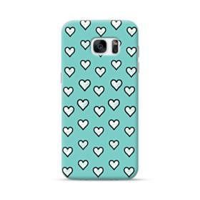 Lovely Hearts in Tiffany Blue Samsung Galaxy S7 edge Case
