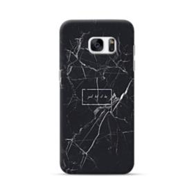 Just Let It Be Black Marble Samsung Galaxy S7 edge Case