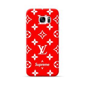 Classic Red Louis Vuitton Monogram x Supreme Logo Samsung Galaxy S7 edge Case