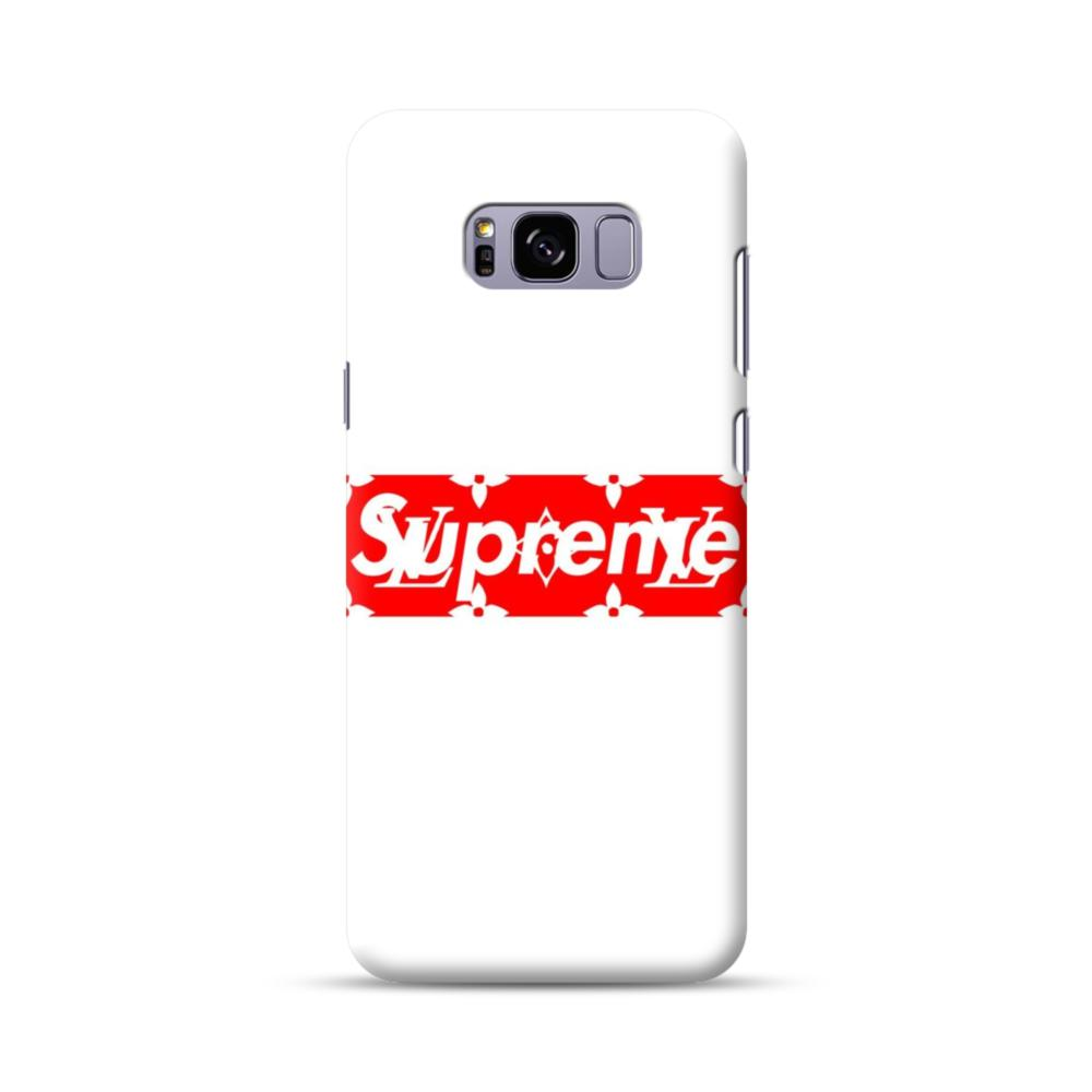 official photos b1056 5d6af Louis Vuitton Monogram x Supreme Logo Samsung Galaxy S8 Plus Case