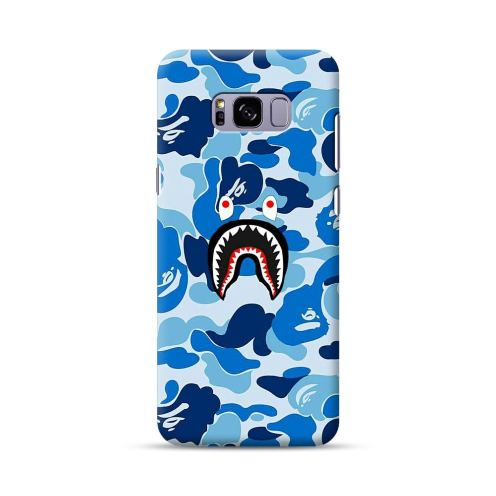 pretty nice b830f 1bb9a Bape Shark Blue Camo Samsung Galaxy S8 Plus Case