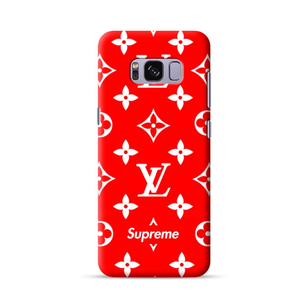 classic red louis vuitton monogram x supreme logo samsung galaxy s8classic red louis vuitton monogram x supreme logo samsung galaxy s8 case